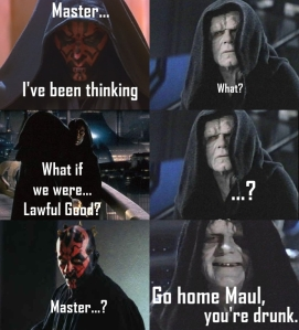 Sidious and Maul conversation